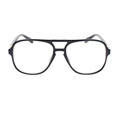 Amazon.com: Mens Retro Nerdy Geek Urkel Plastic Aviator Clear Lens ...