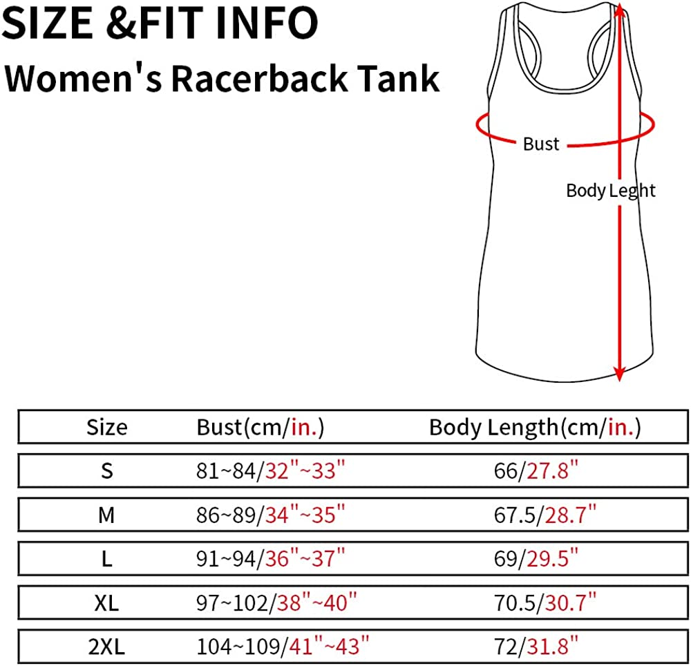 Fannoo Womens Workout Tank Tops-Novelty Funny Saying Fitness Gym Racerback Sleeveless Shirts for Women