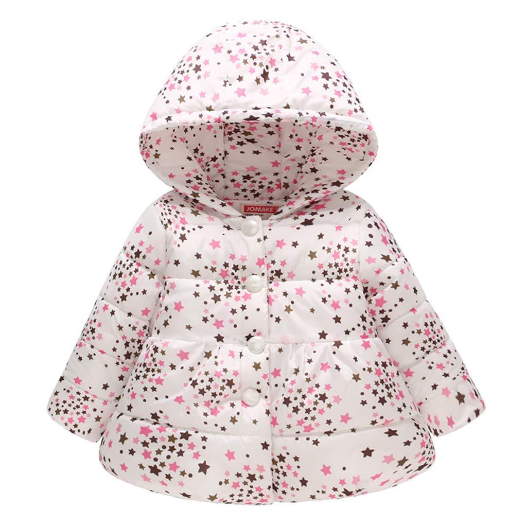 Bambina Piumino Ragazze Invernale Imbottito Cappotto Gi/ù Bambino Piuma Giacche Giubbotti Imbottitura Giacca Stampata Tuta da Neve