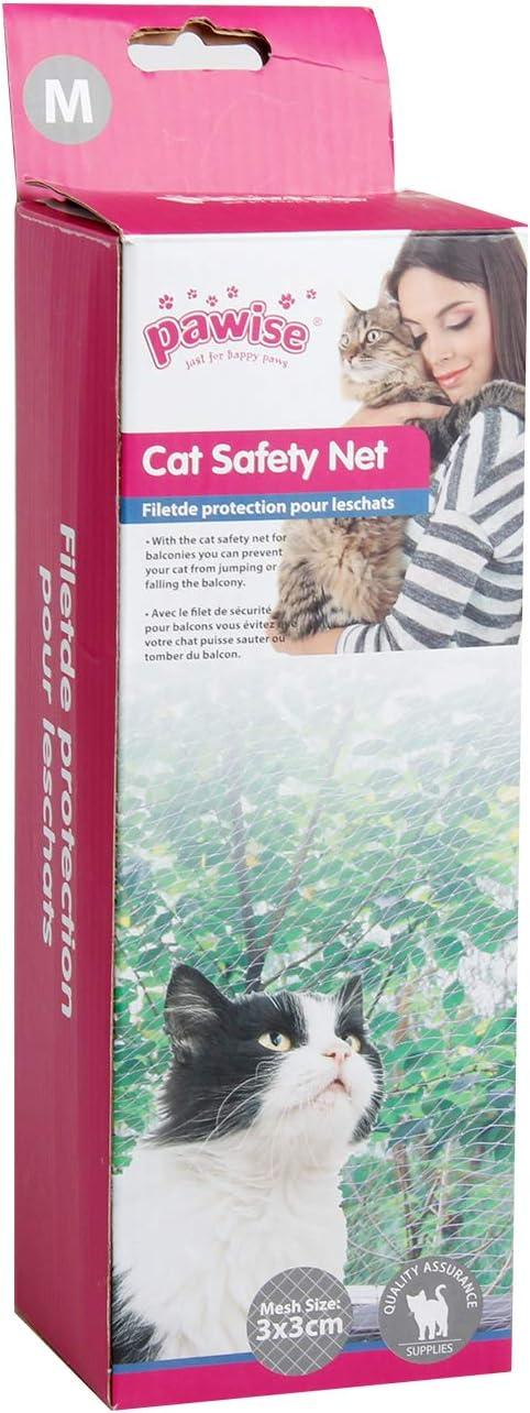 Pawise - Red de protección para Gatos, Transparente: Amazon.es: Productos para mascotas