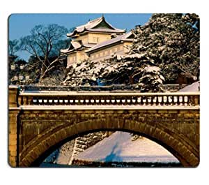 Stone Bridge Temple View Scenery Mouse Pads Customized Made to Order Support Ready 9 7/8 Inch (250mm) X 7 7/8 Inch (200mm) X 1/16 Inch (2mm) High Quality Eco Friendly Cloth with Neoprene Rubber MSD Mouse Pad Desktop Mousepad Laptop Mousepads Comfortable Computer Mouse Mat Cute Gaming Mouse pad