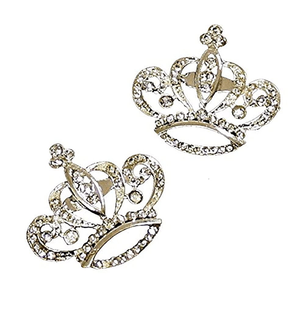 pack of 2 Beautiful Elegant Crystal Brooch Brooches