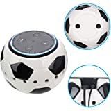 COOSA Cute Football Holder Stand With Handmade Ceramic for Amazon Alexa Protective Accesories Desk Holder Stand for Echo Dot 2nd and 1st Generation (Football)