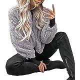 f17cbd022a04 TianWlio Damen Mäntel Frauen Winter warme Tasche Flauschige Mantel Fleece  Pelz Jacke Oberbekleidung Hoodies Wrap