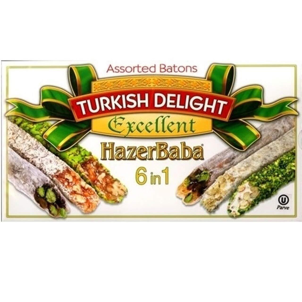 Hazer Baba Mixed Turkish Delight Assorted Batons, 350g by HazerBaba