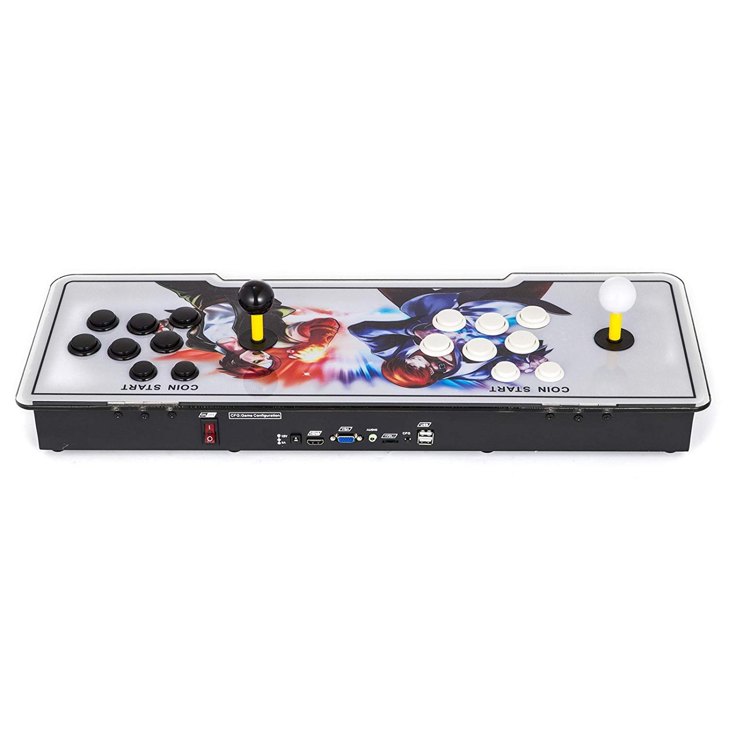 Happybuy Pandora Box 2222 in 1 Arcade Console 9S+ Pandoras Box 2 Players Retro Arcade Station x Full HD Video Game Console with Arcade Joystick Support HDMI VGA USB by Happybuy (Image #3)