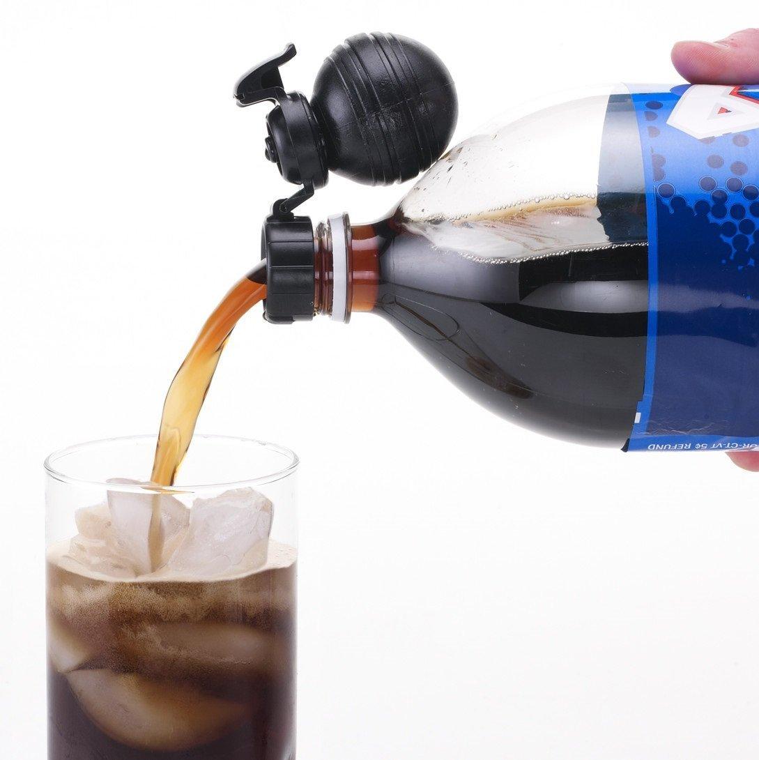 Soda Fresh Pump & Pour Fizz Keeper Cap for 2 Liter Bottles -Black by JOKARI