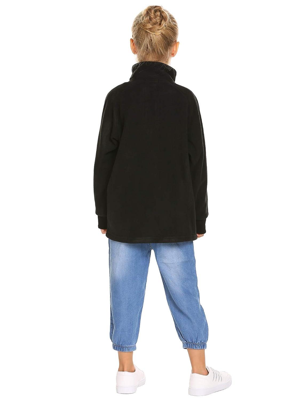 Arshiner Girls Fleece Coat Solid Polo Jacket