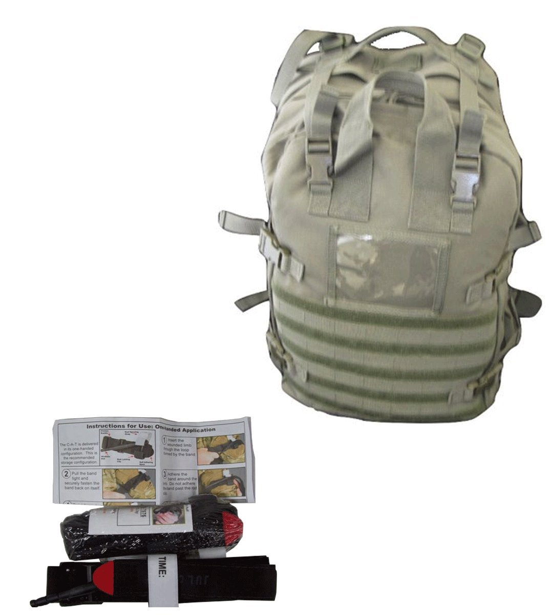 Medical Bags Fully Stocked - Stomp Medical Kit Bag With CAT Tourniquet Bundle (OD)