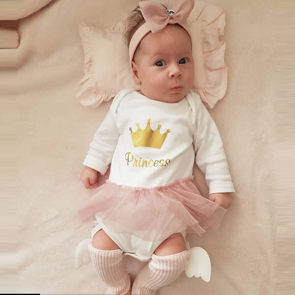 KONFA Toddler Baby Girls Fall Winter Clothes,Little Princess Skirt Rompers Jumpsuit 0-24 Months