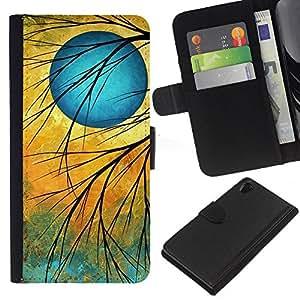 EJOY---La carpeta del tirón la caja de cuero de alta calidad de la PU Caso protector / Sony Xperia Z2 D6502 / --Signo Crepúsculo