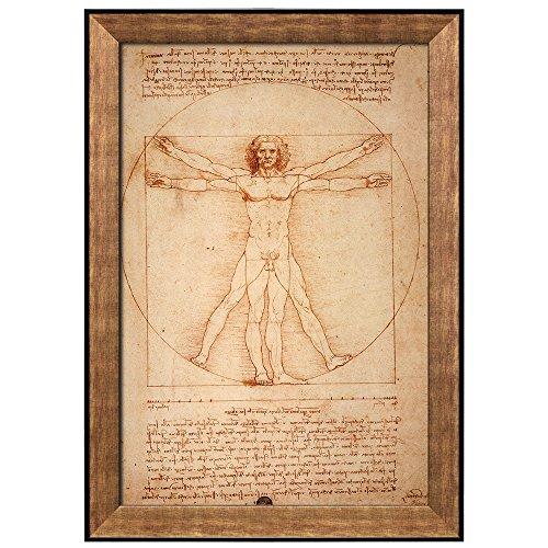 Vitruvian Man by Leonardo Da Vinci Framed Art