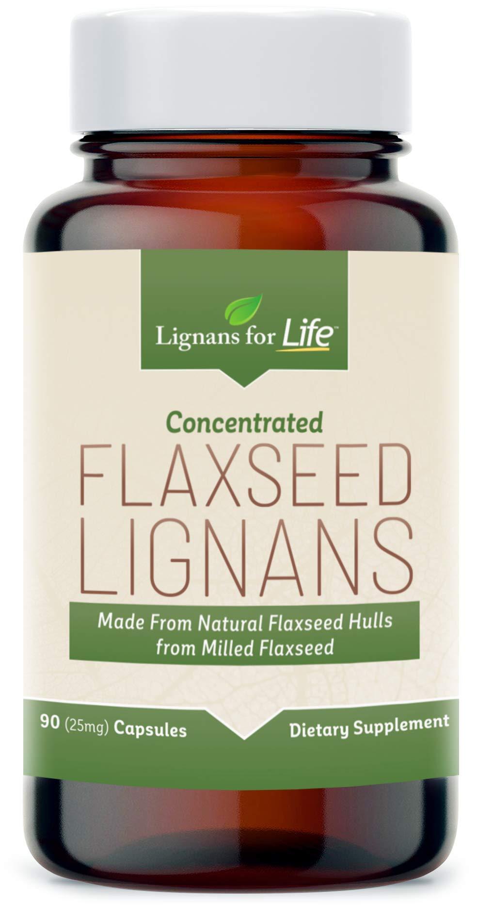 Lignans for LifeFlaxseed Lignans - Flaxseed Hulls + SDG Lignans from Flaxseed Hulls - 90ct 25mg Capsules