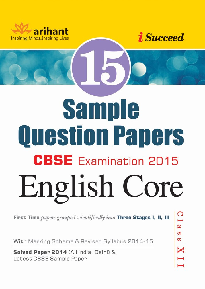 Cbse 15 sample question paper english core for class 12 old cbse 15 sample question paper english core for class 12 old edition amazon lalita dhawan vibha gupta books malvernweather Image collections
