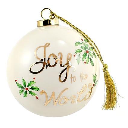 Lenox alegría al mundo 4-in bola para árbol de Navidad, color marfil ...