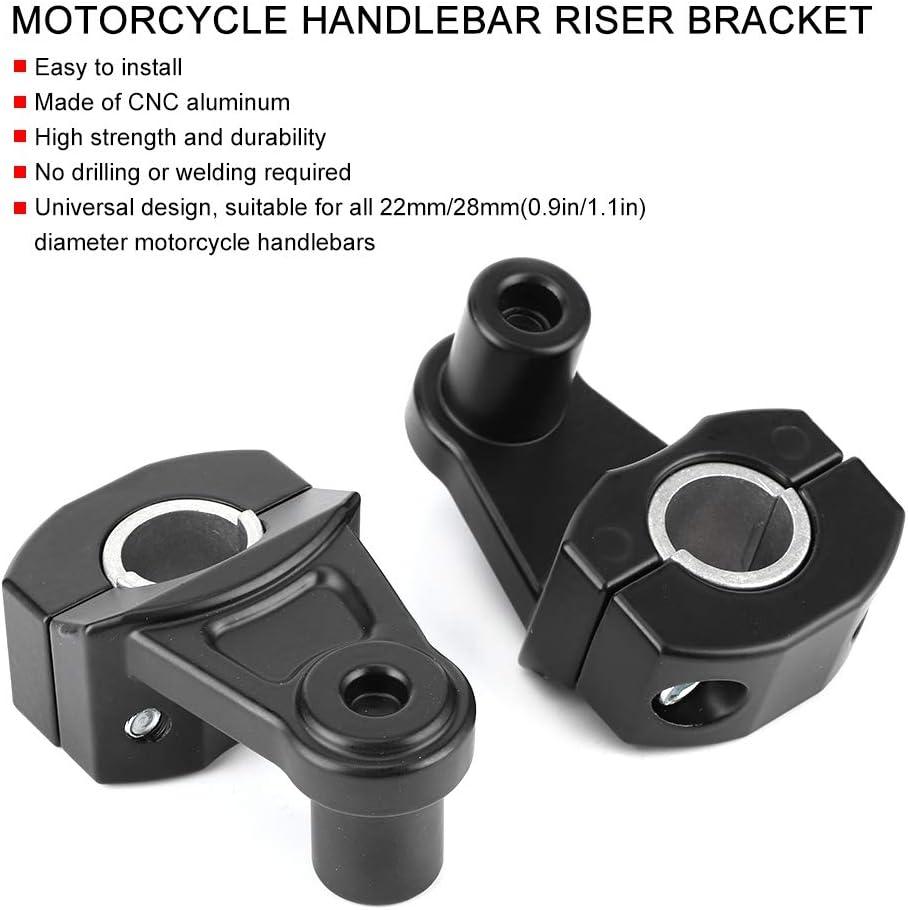 Qiilu Motorrad Lenker Riser 2PCS 22mm//28mm Universal schwenkbare Motorrad Lenker Montage Riser Halterung Klemme CNC Aluminium