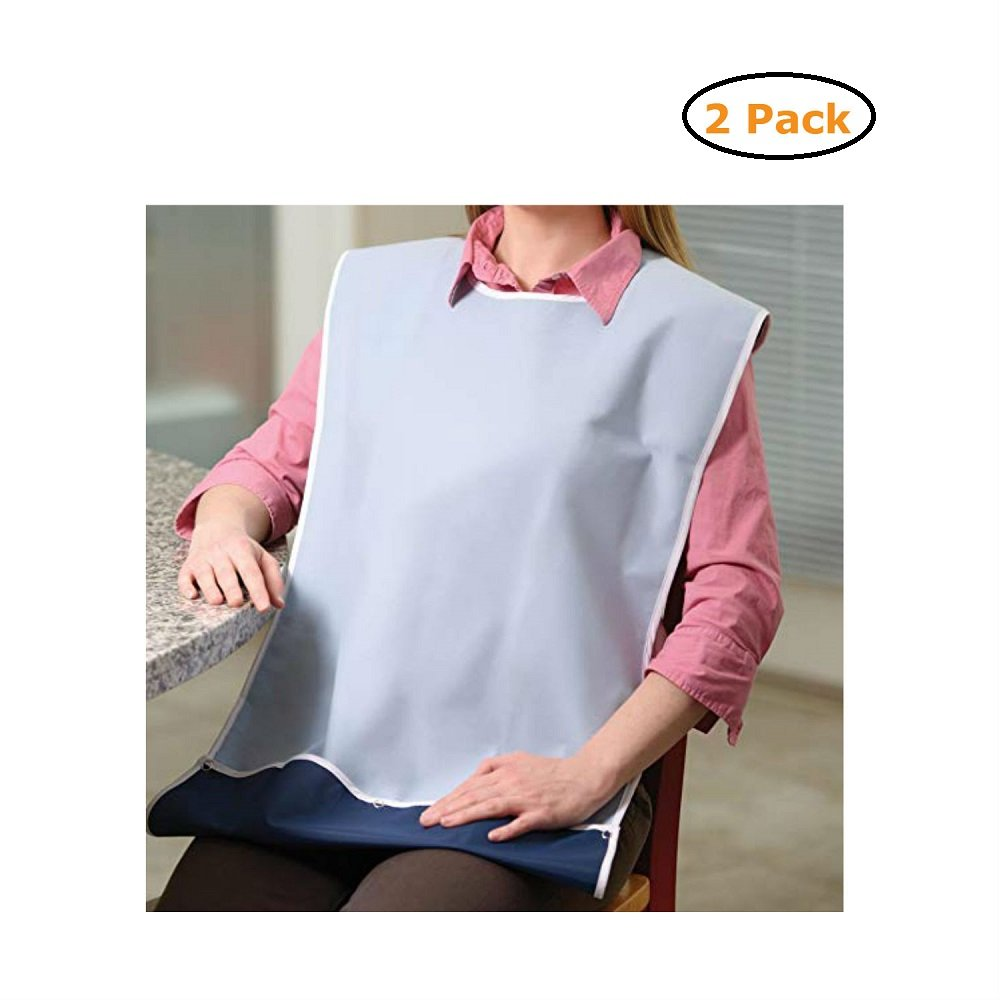 Waterproof Terry Cloth Crumb Catcher Bib - Size -32X20 - Pack of 2 by Active Care (Image #1)
