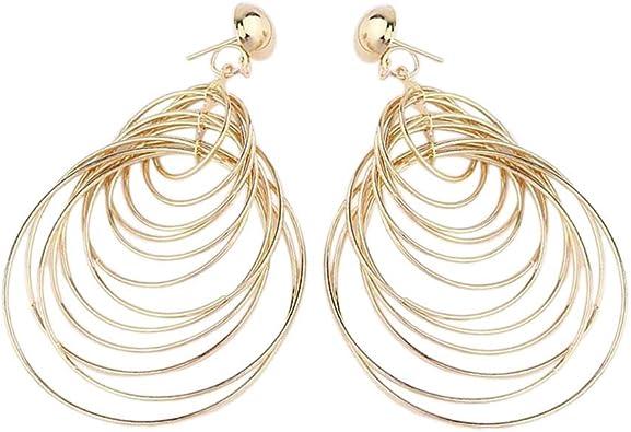 Fashion Boucles d/'oreilles Cercle Coquillage Fleur Pendentif Femmes Exagéré Bijoux Boucles d/'oreilles