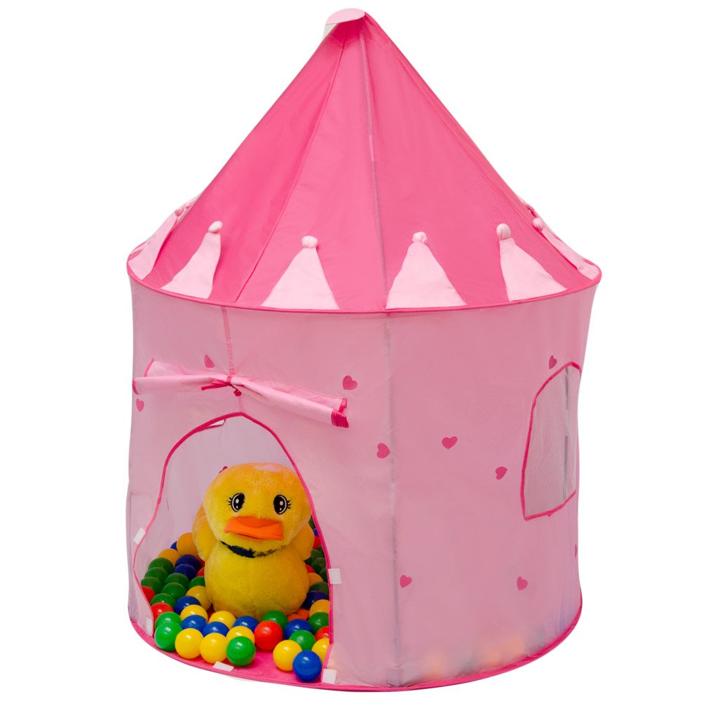 LittleTom Tienda de Campaña Pop-up para niñas 100x100x135cm Incl 200 Bolas Rosa: Amazon.es: Juguetes y juegos