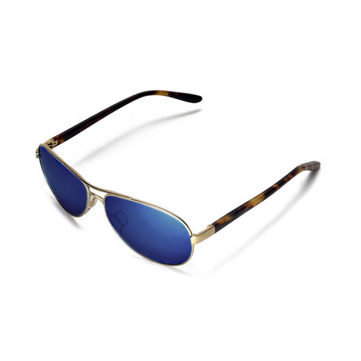 209136a1ef9 Walleva Replacement Lenses for Oakley Feedback Sunglasses - Multiple  Options Available (Ice Blue Coated - Polarized)
