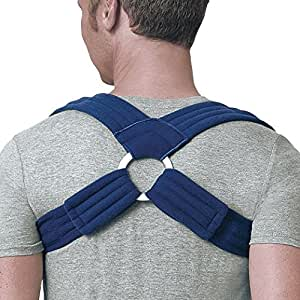 FLA Orthopedics Prolite Deluxe Clavicle Support, Navy, Large