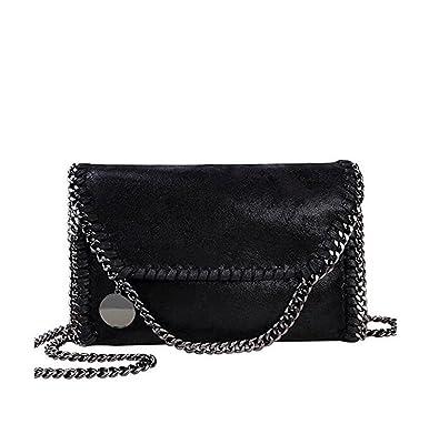 Mioy Women s Solid color handbag Mini Soft PU Leather Crossbody bag Casual  Chain Bag shoulder Bag 33983bb2c6f3b