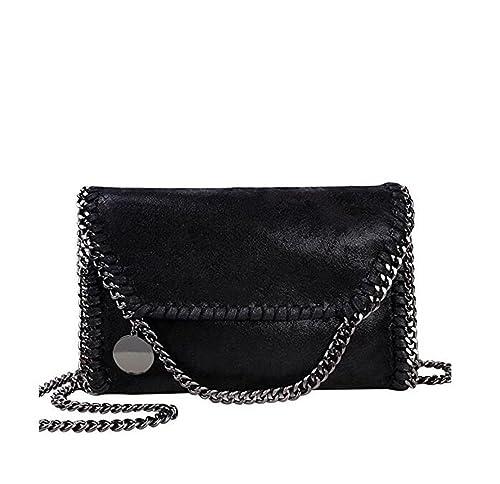 d1818468607 Mioy Women's Solid color handbag Mini Soft PU Leather Crossbody bag Casual  Chain Bag shoulder Bag