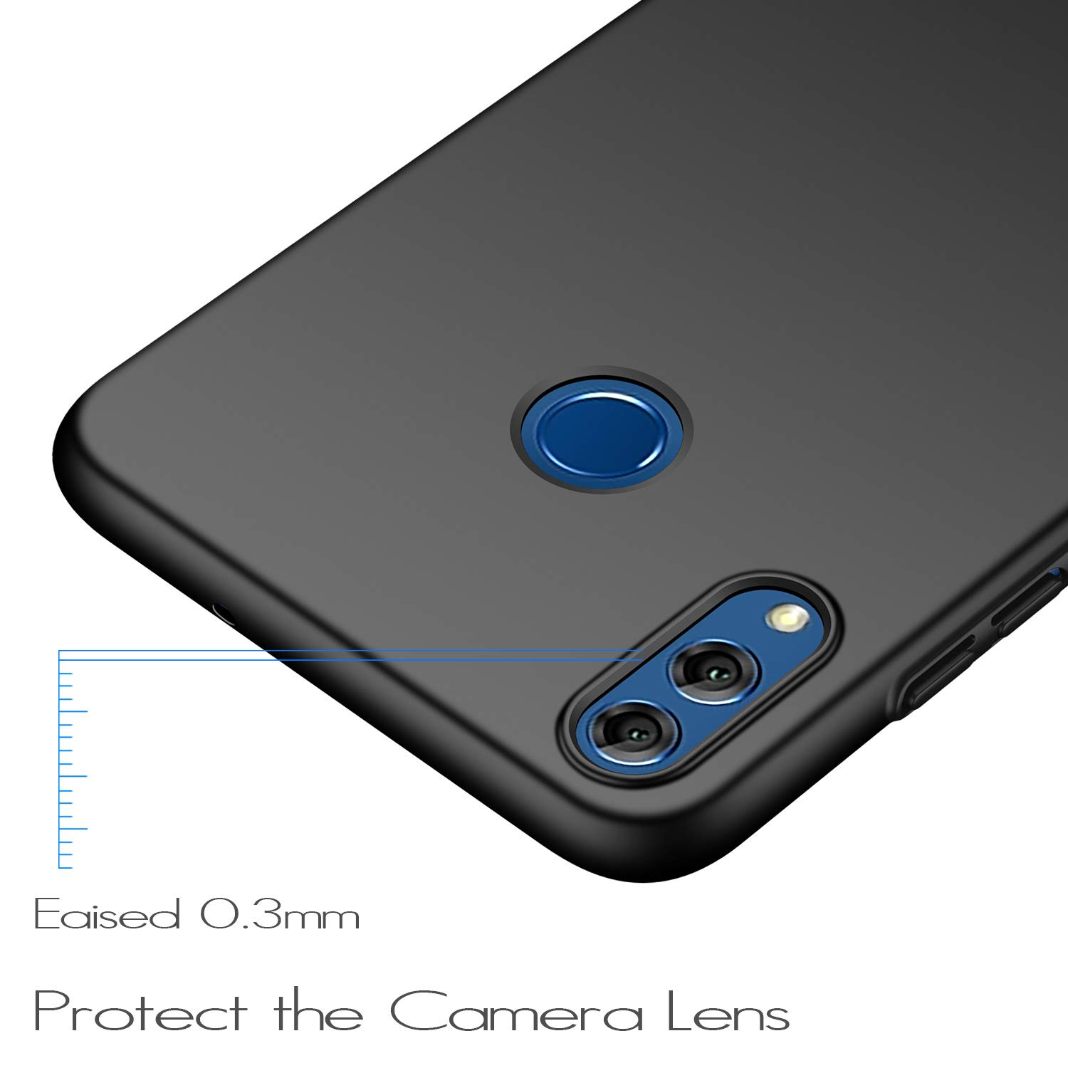 Premium Material Slim Full Protection Cover for Huawei Honor 8X Anccer Colorful Series for Huawei Honor 8X Case Colorful Series Anti-Drop Smooth Black Ultra-Thin