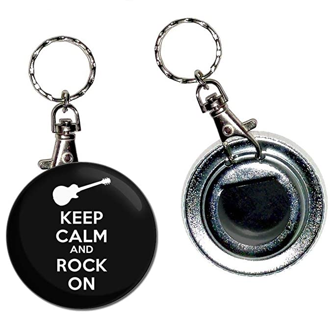 Keep Calm and Rock On - Llavero con abridor de botellas de ...