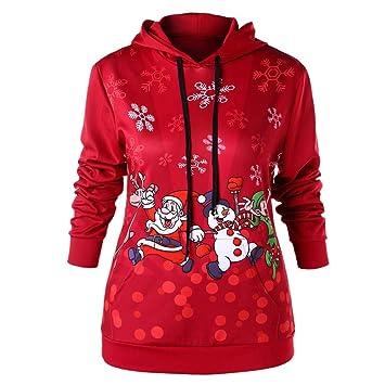 Kolylong Desgaste de pareja Suéter Navidad para mujer Jersey ...