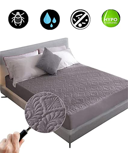Mattress Cover Waterproof Bed Bedding Sheet Protector Fitted Deep Pad Ultrasoft