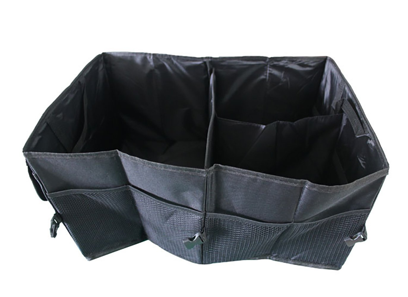 ITTA Foldable Cargo Storage Box with Rope Handles, Portable Multipurpose Organizer Bag Case Basket For Car Trunk Travel Picnic Camping Home Toys (22 x 15.7 x 10.3 inch), Black Yayihe YH-STBA-5626