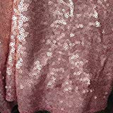 LQIAO Glitter 18PCS 13x108in-Sequin Table Runner-Sparkly Wedding Party Dining Kitchen Table Linens DIY, Blush