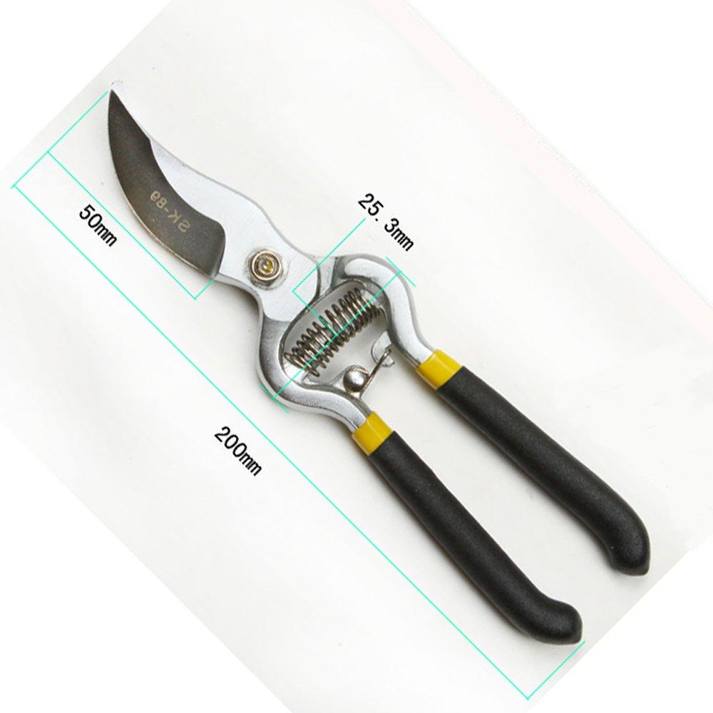 NUZAMAS Bypass Pruning Shears 8 inch Stainless Steel Gardening Hand Pruners Cutter Bush, Shrub & Hedge Clippers Garden Scissors Black by NUZAMAS (Image #4)
