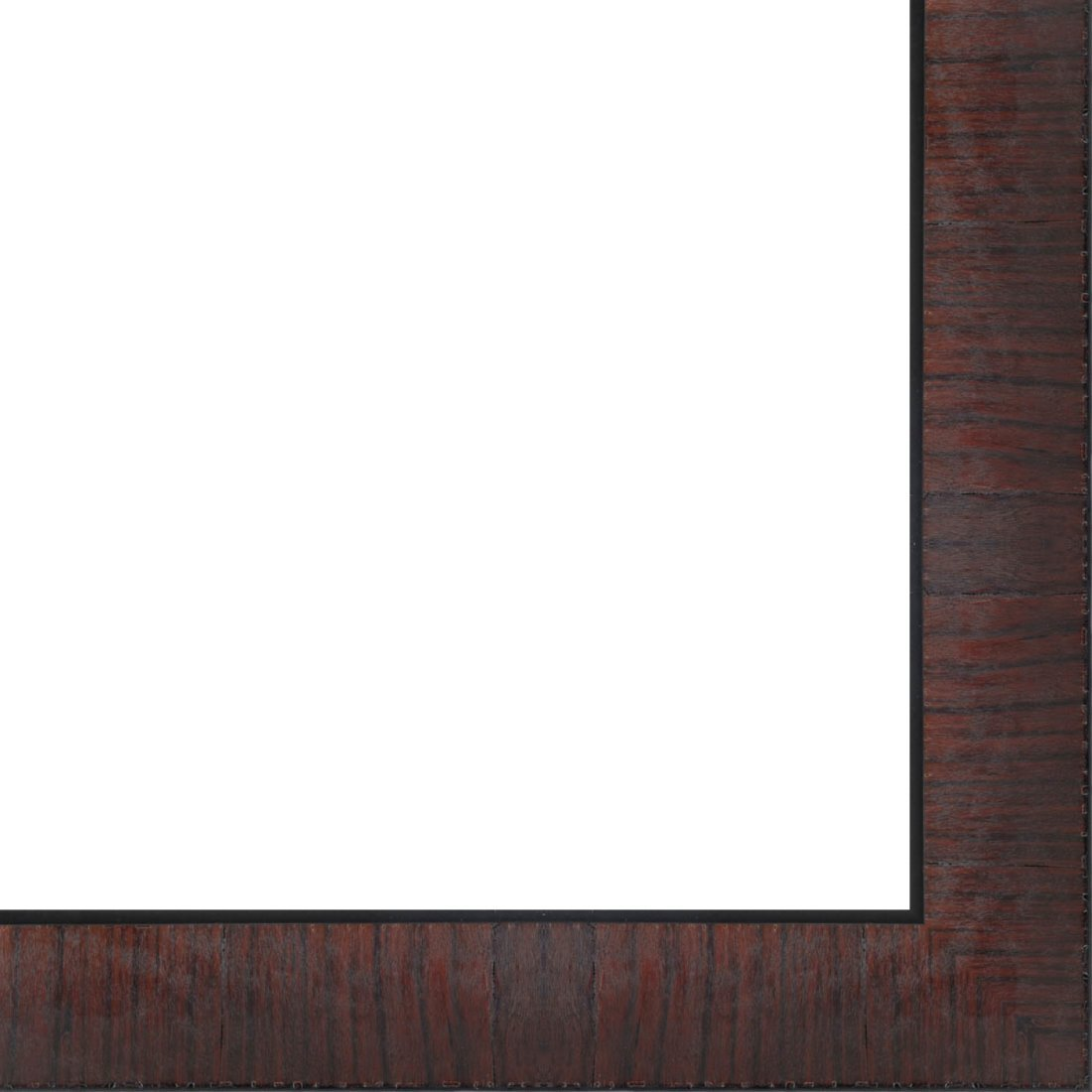 Picture Frame Moulding (Wood) 18ft bundle - Contemporary Mahogany Finish - 3'' width - 1/2'' rabbet depth