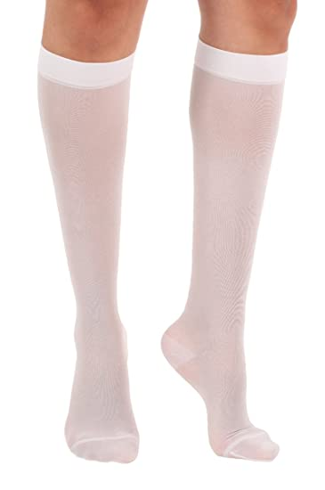 d6a041c15a Absolute Support Women's Compression Stockings - Sheer Knee High, 15-20  mmHg Medium graduated