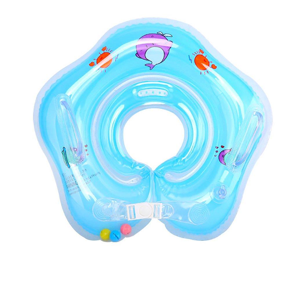 Eizur Baby Nuoto Anello Salvagente Regolabile per Bambini Supporto di Collo Bambini nuotano anello Baby galleggiante collare da bagno Baby Float Piscina Neonati, Blu