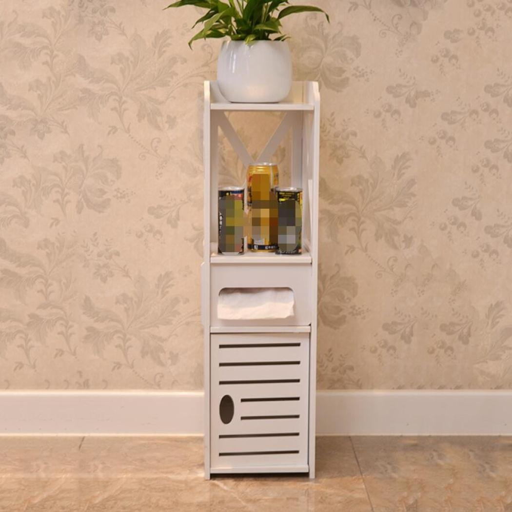 GL&G Bathroom Furniture Toilet Shelf Landing WC Wash waterproof Storage rack Bathroom side cabinet, 80 25 22cm