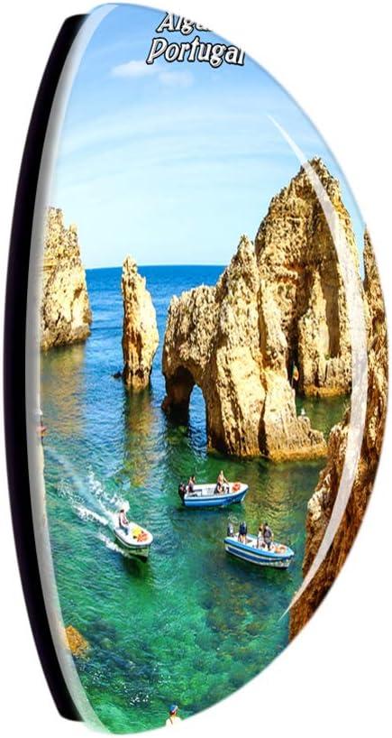 Weekino Oporto Portugal Im/án de Nevera Cristal de Cristal 3D Ciudad Tur/ística Recuerdo de Viaje Colecci/ón Regalo Fuerte Etiqueta Engomada del refrigerador