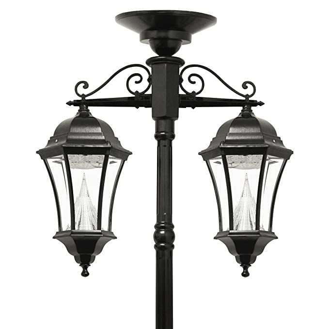 Gama Sonic Gs 94c D Victorian Solar Lamp Post And Double Downward