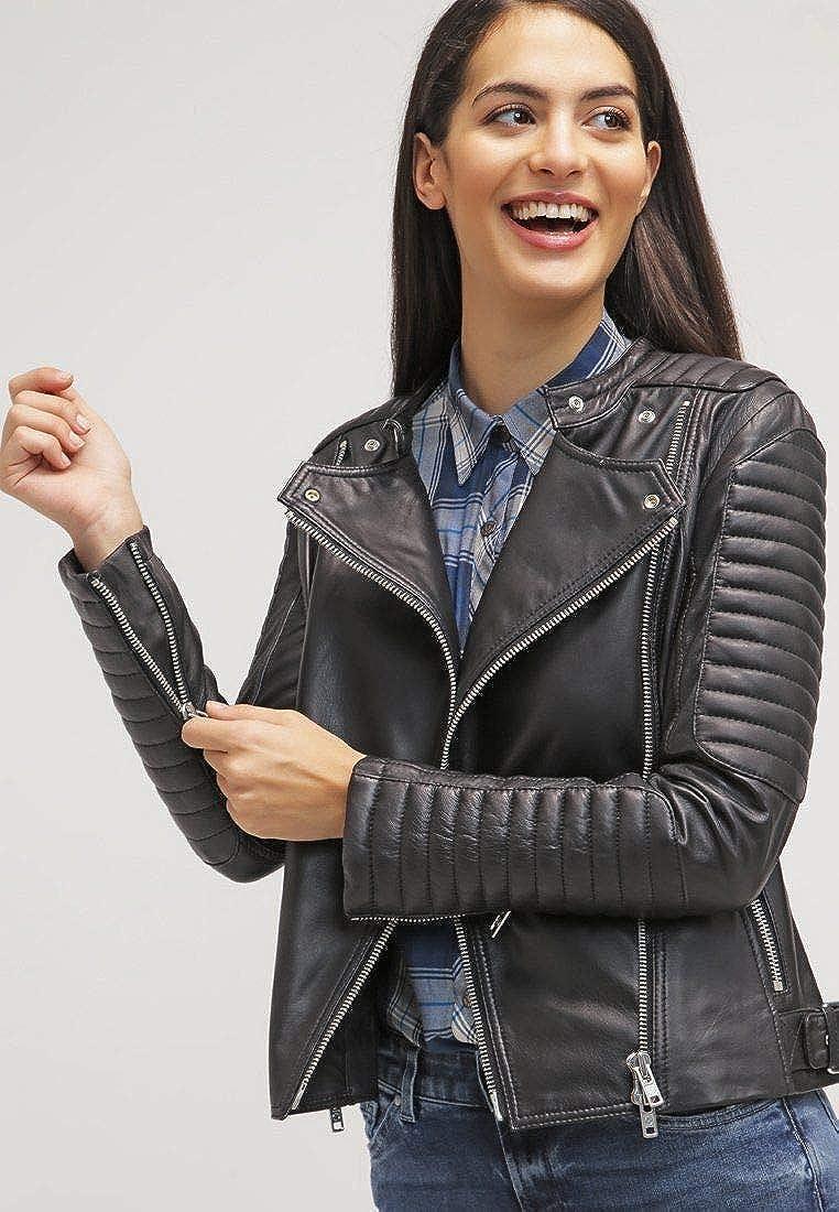 Koza Leathers Womens Lambskin Leather Biker Jacket KN089