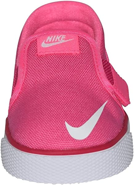 new products 28003 f1f01 Nike Toddler Toki Slip-On Canvas Sneakers Pink White 10c
