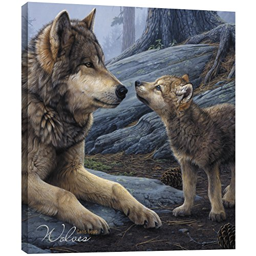 Tree-Free Greetings EcoArt Home Decor Wall Plaque, 11.25 x 11.25 Inches, Wolf Brothers Themed Wildlife Art (85914) ()