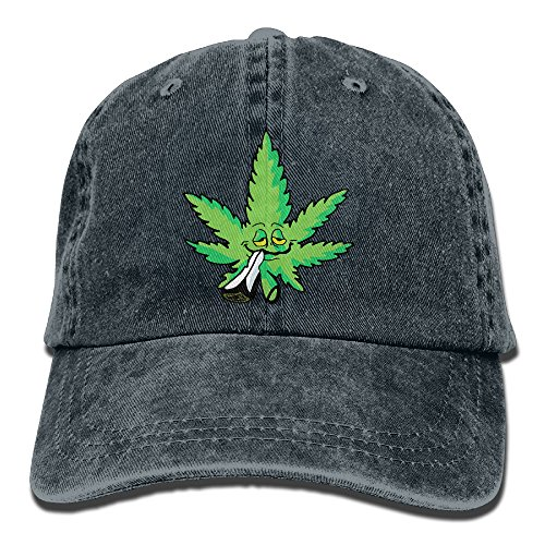 NaNa Home Smoking Marijuana Fashion Denim Baseball Adjustable Caps Hats