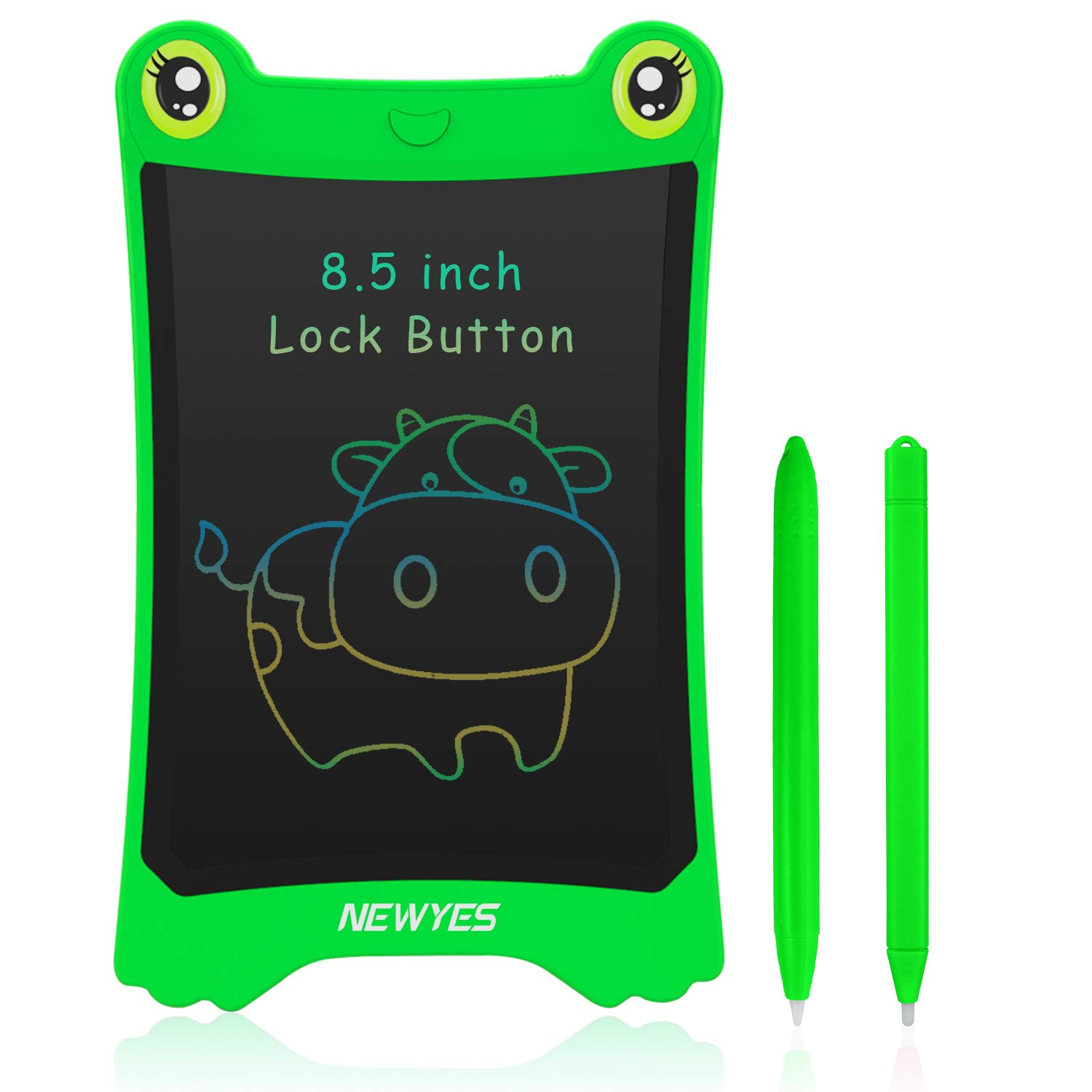 WOBEECO LCD Writing Tablet, 8.5 Inch Electronic Writing Board Doodle and Scribble Board for Kids (Green) by WOBEECO (Image #1)
