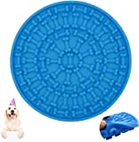 EZONEDEAL Dog Lick Pad, Dog Washing Distraction Device,Pet Bath Grooming Helper,Slow Treat Dispensing Mat-Super Strong…