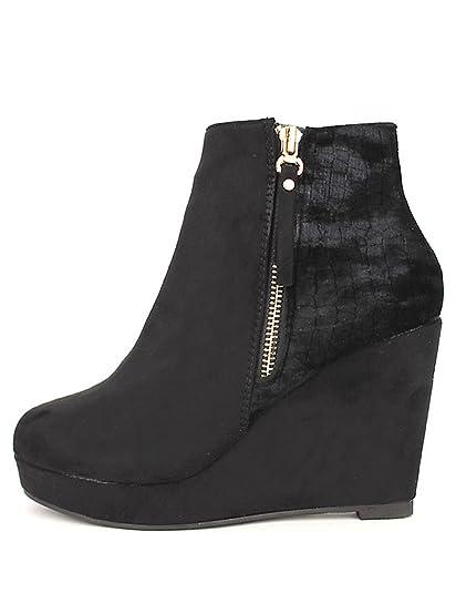 e8e9317c3c00f Cendriyon, Lows Boots Compensées VELLS Chaussures Femme Taille 40   Amazon.fr  Chaussures et Sacs