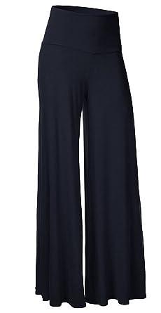 KorMei Damen Lange Stretch Lagenlook Hose im Marlene-Stil  Amazon.de   Bekleidung ecf7b6872a