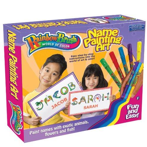 Rainbow Brush Name Painting, Medium - Name Brush