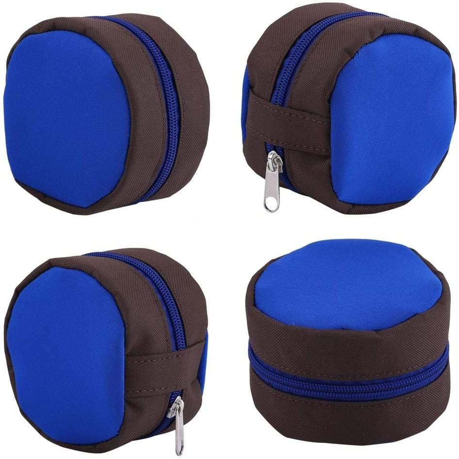 Fly Fishing Storage Zip Reel Pouch Sponge Cover Protective Bag Case Reliable